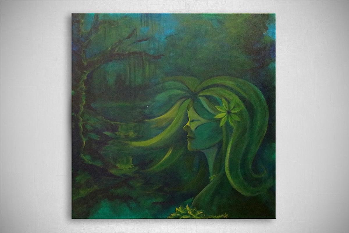 The Bayou Ballroom: Oil painting on canvas