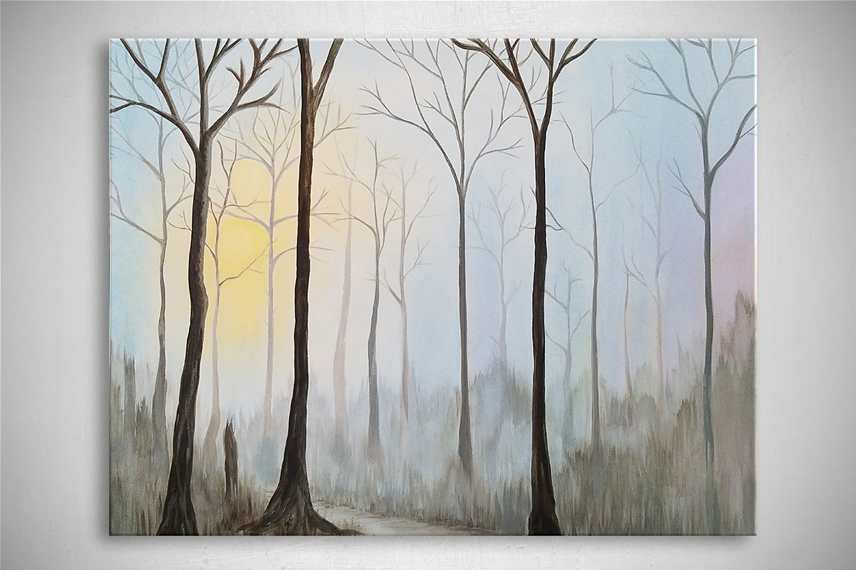 """Finding the Light: Acrylic painting on canvas 24""""x30"""""""